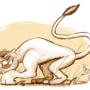 suspicious looking lion by MagnusRosenbergChris