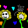 Dark flowey an Bright flowey by Haackermatt1234