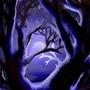 Moon lit tree by LinDArtist