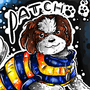 Patch Dog Portrait by BeKoe