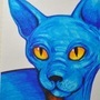 Blue. Cat. Yes. by vladimirkofeyniy
