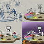 WIP Epic Arty party by Littlepinkmonkey
