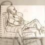 Charcoal drawing - Adrien by SickJuju
