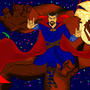 Dr Strange VS Dormammu by TheSmilingNinja