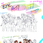 The process of my Arty Party piece by electrixxx