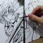 D Gray Man Allen vs Hakushaku Japanese Brush Video by isacss