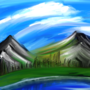 Digital Mountainside Painting by Kentoons