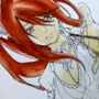 Fairy Tail Erza Scarlet Watercolor Timelapse Video by isacss
