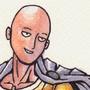 Saitama (One-Punch Man) ink and watercolour