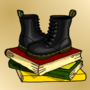 Books and Dr. Martens by Pluisbaard