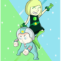 Pearl and Peridot (nephew and sister edition) by ZieB