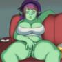 Bored Connie (GIF) by JuicyDemonArt