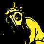 Gas mask girl: yellow version by Ninjajaja
