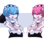 Rem and Ram by theassholeswind