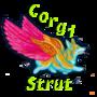 Corgi Strut by CafeCorgi