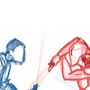 Master Matu vs. Darth Sados WIP by MasterWiggins