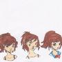 Kira in 4 art styles by scubasam57