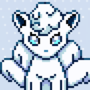 Alola Vulpix wink by TheAstra