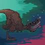 Crazy T-rex by fabianlpineda