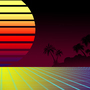 Retro 80's Tropical Background by mohawkade