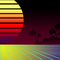 Retro 80's Tropical Background