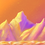 Retro mountains