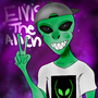 Elvis the Alien Fanart by okijio