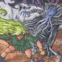 Kiko vs Mind Flayer by Geckone