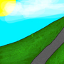 Grassy Hill Background (01) by RxSFM