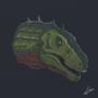 Acrocanthosaurus by fabianlpineda