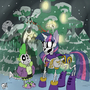 Snowdin's Skelebronys by sanyo2100