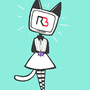 Void neko / Radio head (right back cat ) by ProjectNetoku