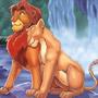 Simba and Nala by Gareque