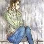 Sad Girl by Kassul