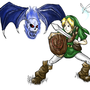 Link vs. Blue Bubble by GiyganMage