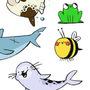 ANIMAL STICKERS by amenduhh