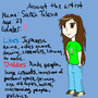 Artist Profile- About the artist by NostalgicNerd94
