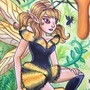 Honey copic marker illustration by ScribbleFix