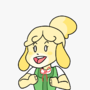 Isabelle bein cute by MexicanArmadillo