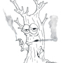 Smoking tree by FubarBundy