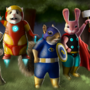 Mammal Camp Superheroes by britsie1