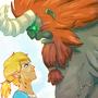 Link vs Lynel by FsebastiamL