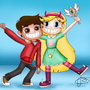 Marco Diaz & Star Butterfly by Yajrman