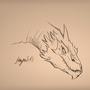 Smaug sketch by MagnusRosenbergChris