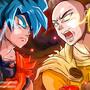 Saitama VS Goku by fiepaper