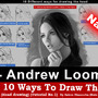 "Top 10 ways to draw the head [1- Andrew Loomis] ""Narrated"""