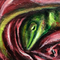 lizard in rose