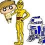 Baby Luke R2-D2 And C3-PO by TurboSpeedRunner-YT