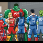 Marvel DC basketball by Lourdjim