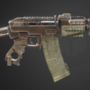 Apocalyptic AK pistol (fictional) by LeFrenchBaguette
